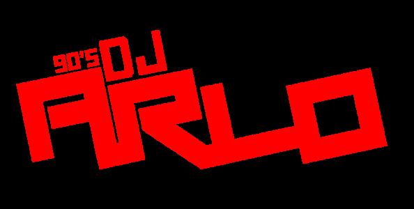 90DJ Arlo LOGO transparant rood